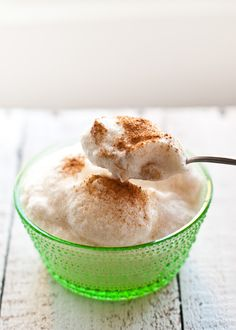 Omenalumi - Apple Snow by scandifoodie: Dusted with cinnamon and as light as a cloud. (This uses raw egg whites. Substitute pasteurized egg white powder if you like.) #Apple_Cloud #scandiefood