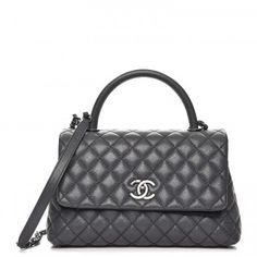 03c462a46023 Chanel coco handle in small size. This Grey colour is stunning! Chanel Bag  Classic