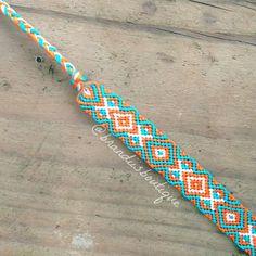 Blue & Orange Diamond Aztec Friendship by BrandiisBoutique on Etsy, $12.00