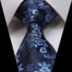 Navy Floral Necktie
