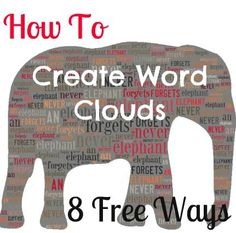 8 Free and Simple Online Word Cloud Generator Tools. Because Wordless never works at school!