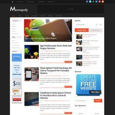 Monopoly Responsive Blog WordPress Theme | WordPress Theme Download