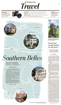 Southern Belles #Newspaper #GraphicDesign #Layout #Travel