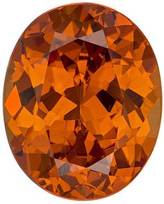 Genuine Spessartite Garnet Loose Gemstone, Orange Color, Oval Cut, 9.5 x 7.6 mm, 3.15 Carats at BitCoin Gems