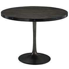 Modway Furniture Drive Wood Top Dining Table In Black Eei 1197 Blk Set Round Dining Table Modern, Dining Table Online, Furniture Dining Table, Solid Wood Dining Table, Dining Tables, Dining Room, Dining Area, Industrial Dining, Modern Industrial