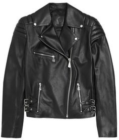McQ by Alexander McQueen Quilted leather biker jacket on shopstyle.com