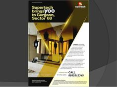 """@8882512345 Supertech """"Hues"""" in Sector 68 ,Also in Subvention Plan by Mnc Propmart via slideshare"""