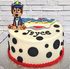 Police Patrol Dog and Sign Cake Topper by SweetcreationsbyGigi Police Patrol, Paw Patrol, 5th Birthday, Birthday Cake, Fondant Cake Toppers, Birthdays, Baking, Cake Ideas, Sweet