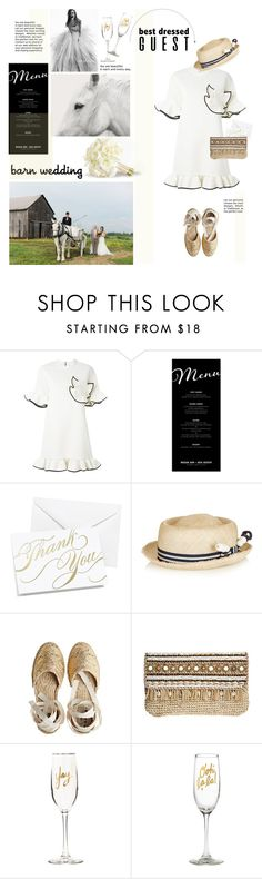 """Best Dressed Guest: Barn Weddings"" by barngirl ❤ liked on Polyvore featuring Vera Wang, Marni, Pottery Barn, Hortense B. Hewitt, Benoît Missolin, Castañer, Skemo, Easy, Tiger and country"