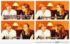 Emma Watson, Rupert Grint Chair area, lol!