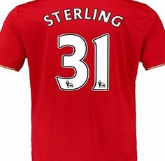 New Balance Liverpool Home Shirt 2015/16 Red with Sterling with Sterling 31 printing http://www.comparestoreprices.co.uk/sportswear/new-balance-liverpool-home-shirt-2015-16-red-with-sterling.asp