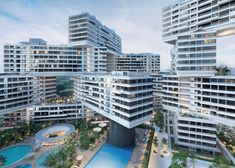 """Ole Scheeren's The Interlace envisioned as """"a blatant reversal"""" of tower-block housing."""