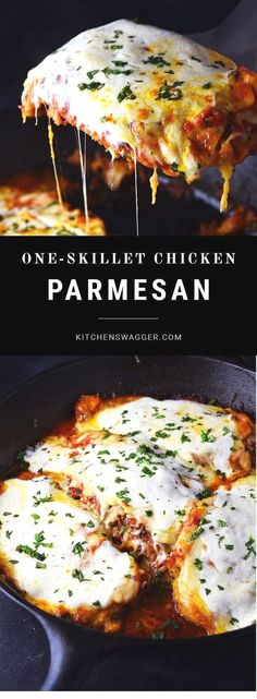 Perfect Classic chicken parmesan prepared in a single cast iron skillet. The post Classic chicken parmesan prepared in a single cast iron skillet…. appeared first on Recipes . Skillet Chicken Parmesan, Chicken Parmesan Recipes, Chicken Salad Recipes, Crispy Chicken, Recipe Chicken, Boneless Chicken, Roasted Chicken, Zoodle Recipes, Chicken Cast Iron Skillet