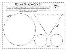 Mouse Paint Shape Craft This super fun craft will reinforce shapes and cutting practice while creating a cutie of a mouse. This is a FREEBIE from my full Mouse Paint Pres. Kindergarten Art, Preschool Crafts, Preschool Activities, Mouse Paint Activities, Preschool Shapes, Cutting Activities, Teaching Shapes, Preschool Colors, Dementia Activities