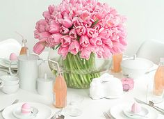 pink tulips via camillestyles.com
