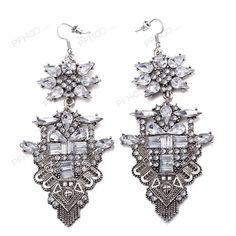 Retro female charm pendant earrings zircon chunky Earrings