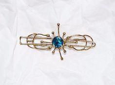 Hair and Head Jewelry 110620: Gold Bronze Barrette Hair Clip Jewelry Abalone In Sun Sunshine Gift BUY IT NOW ONLY: $38.0