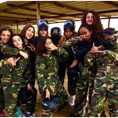 En el cumple de Puch ~ Paintball ❤️