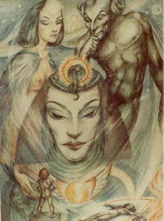 """Rosaleen Norton's """"Sphinx and her Secrets""""  (Plate 11 - Supplement to The Art of Rosaleen Norton)"""