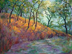 Erin Hanson ~ Modern painting that is evocative of Van Gogh expressionist landscape Erin Hanson, Shadow Painting, Shadow Art, Abstract Landscape, Landscape Paintings, Landscapes, Impressionist Paintings, Abstract Oil, Vincent Van Gogh