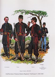 """PLATES- CMH: 33rd New Jersey Volunteer Infantry Regiment [""""2nd Zouaves""""), 1863-1865, by Frederic E. Ray, Jr."""