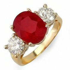 Image result for gold ring with ruby and diamonds public domain