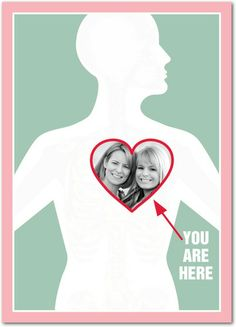 You Are Here - Valentine's Day Cards in Basil | Magnolia Press