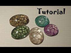 Tutorial: Come realizzare i cabochon sotto vetro con i colori Pebeo Prisme - YouTube