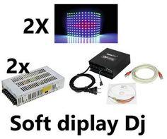 DF40 LED DJ SOFT DISPLAY VIDEO 184X92 SET COMPLETO OTTIMO PER CONSOLLE DJ ECC - #3758129 - su Mercatino Musicale in Altri Effetti Luce