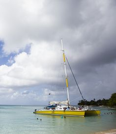 Explore the calm waters of Barbados. #beach