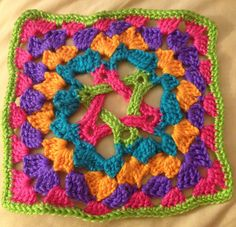 Star...granny square....pattern pinned in separate post.