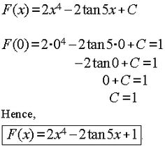 Differentiation Formulas are useful in finding a