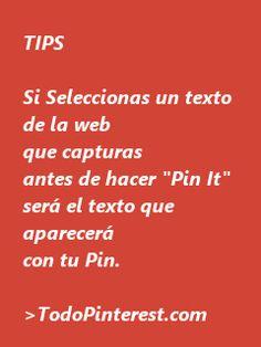 Trucos Pinterest en www.todopinterest.com  http://todopinterest.com/content/20-herramientas-fundamentales-para-pinterest  BUENA PAG. TODO PINTEREST EN ESPAÑOL