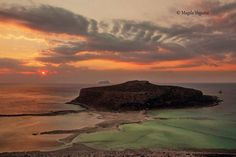 Balos laggon in #peach and #mint colors of October #Chania, #Creece. By Magda Vogiatzi