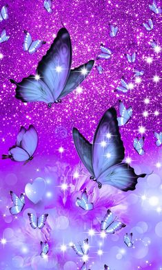 Shared by ♔ⓜⓟⓘⓝⓚ♔. Find images and videos about cute, girly and wallpaper on We Heart It - the app to get lost in what you love. Purple Butterfly Wallpaper, Cute Galaxy Wallpaper, Butterfly Background, Purple Wallpaper Iphone, Flower Phone Wallpaper, Glitter Wallpaper, Cute Wallpaper Backgrounds, Butterfly Art, Pretty Wallpapers