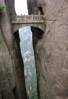 The Bridge of the Immortals - Yellow Mountains, China.