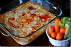 Skinny buffalo chicken dip.