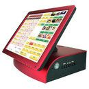 China All In One Red Touch Screen POS Terminal For Dining And Pizzeria supplier Nightclub Bar, All In One Pc, Cash Register, Pos, Night Club, Restaurant, Touch, Ebay, Computers