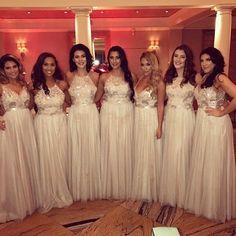 Fun & sparkly bridesmaids dresses || Shared By: @nicole_daniellexo