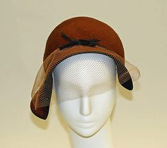 Hat | Lilly Daché (American, born France, 1904-1989) | Date: ca. 1955 | The Metropolitan Museum of Art, New York