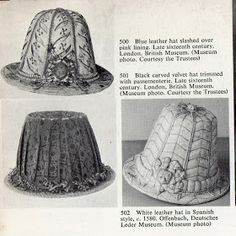 Extant 16th century hats
