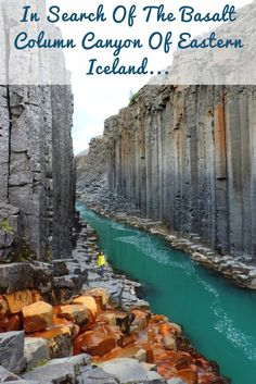 favorite Icelandic hidden gem is Stuðlagil, the Basalt Column Canyon in Jökuldalur valley, Eastern Iceland.Our favorite Icelandic hidden gem is Stuðlagil, the Basalt Column Canyon in Jökuldalur valley, Eastern Iceland. Oh The Places You'll Go, Places To Travel, Travel Destinations, Places To Visit, Iceland Travel Tips, Iceland Road Trip, Basalt Columns, Iceland Adventures, Vacation Spots