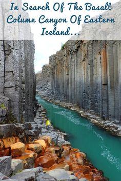 Our favorite Icelandic hidden gem is Stuðlagil, the Basalt Column Canyon in Jökuldalur valley, Eastern Iceland.