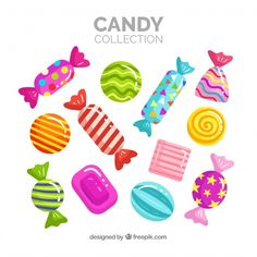 Discover thousands of copyright-free vectors. Graphic resources for personal and commercial use. Thousands of new files uploaded daily. Plat Halloween, Dulces Halloween, Bonbon Halloween, Candy Drawing, Food Drawing, Candy Theme, Candy Party, Candy Icon, Diy And Crafts