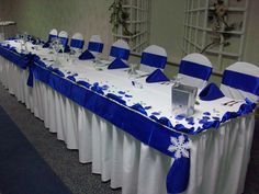 Royal Blue and White Winter Wedding