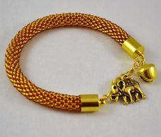 Sale15 FREE SHIPPING Gold bracelet Beaded by SzkatulkaAmi on Etsy