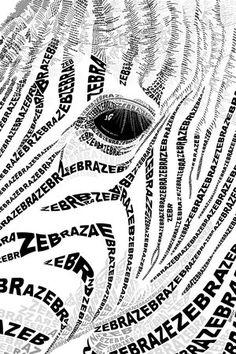 Zebra typography Poster -   Jarrell  Goh's Zebra Eye