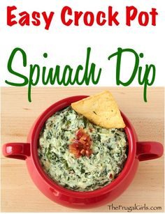 Easy Crock Pot Spinach Dip Recipe! ~ from TheFrugalGirls.com ~ Creamy, rich and savory. This Crock Pot Spinach Dip is going to give that old school spinach dip a kick in the pants. And I blame the bacon! It's perfect for your holiday parties and a must-have on Game Day! Go grab your Slow Cooker! #slowcooker #recipes #thefrugalgirls