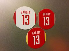 Bad Boy Pistons magnets for the fridge! Price is for one fridge magnet. Magnets are made from flexible magnets. These magnets are unique and fun presents for any Pistons fan. Magnets are made in Canada. Bad Boy Pistons, James Harden, Houston Rockets, Magnets, Basketball, Fan, Gifts, Presents, Hand Fan