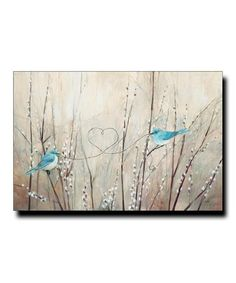 Love this Birds with Heart String Wrapped Canvas on #zulily! #zulilyfinds